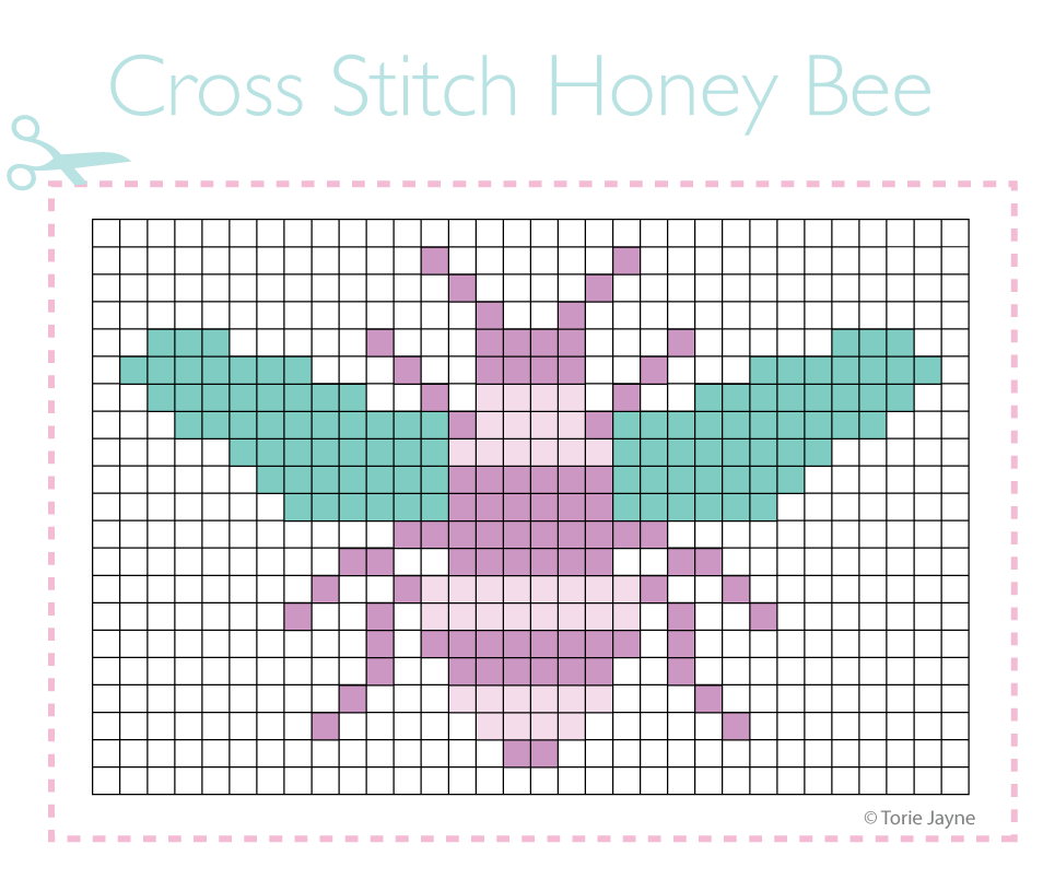 Honey Bee Cross Stitch Pattern Torie Jayne