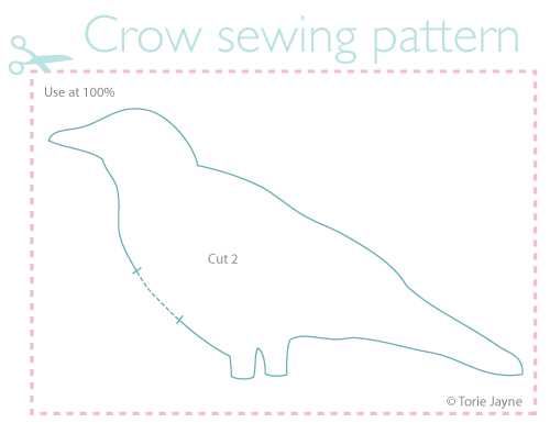 Crow sewing pattern
