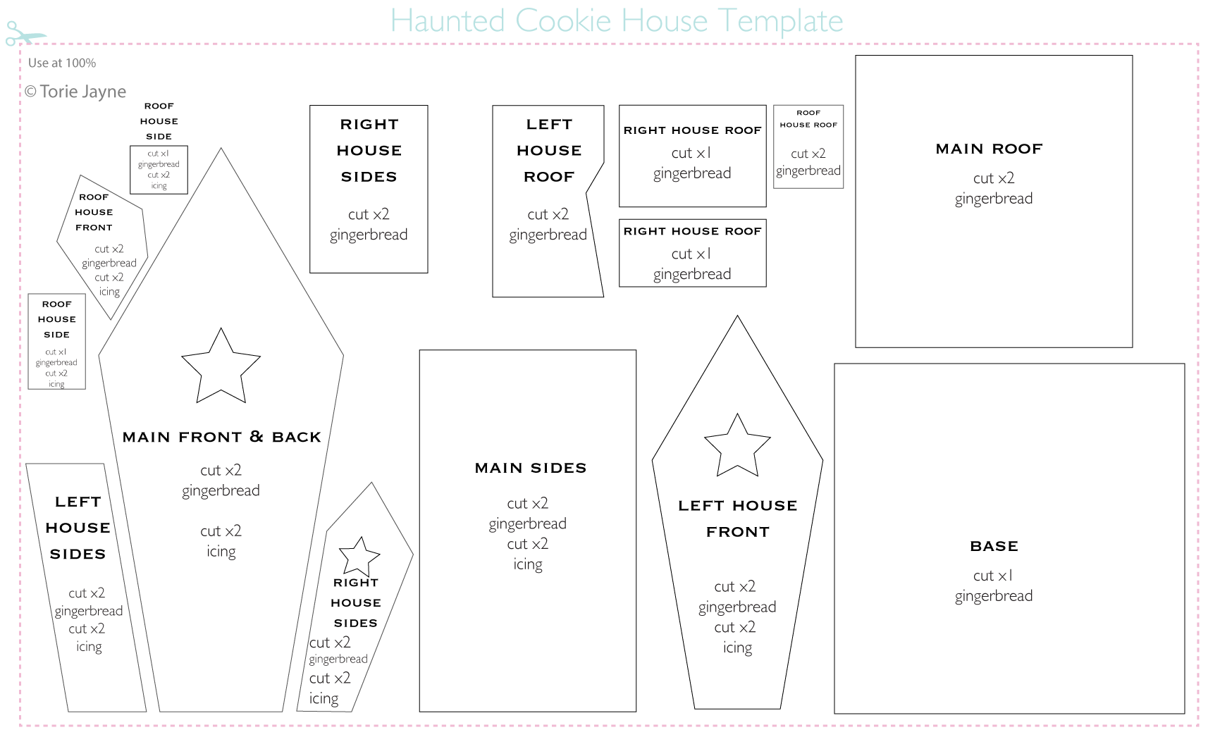 Gingerbread House Template The Image