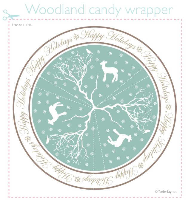 Woodland candy wrapper